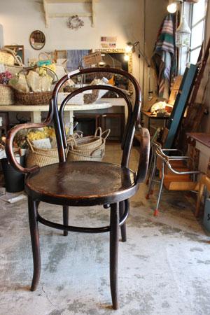 アンティーク ベントウッドチェア アームチェア 椅子 木製 曲げ木