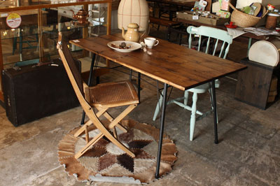 ダイニングテーブル 鉄 パイプ リ・デザイン