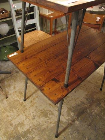 リデザイン家具 リメイク スチール脚テーブル
