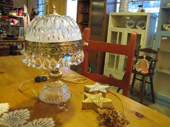 シャンデリア テーブルランプ 照明 アンティーク調 お姫様