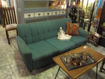 グリーンのヴィンテージソファ 3人掛けソファ レトロ 家具