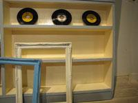 《Re-design》 水色×白 大きなオープンラック入荷!