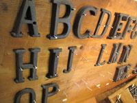 アルファベット プレート
