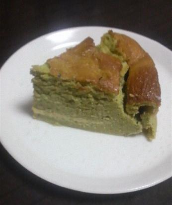 抹茶風味水切りヨーグルトスフレケーキ