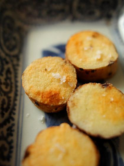 自然薯のセモリナ粉ソテー(アップ)