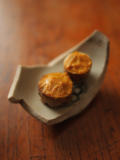 パブ・マスタードと自然薯のセモリナ粉ソテー