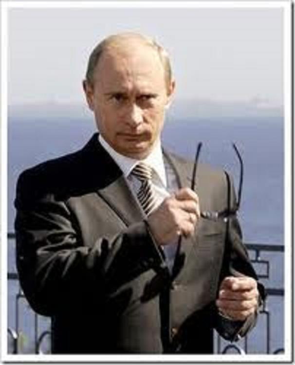 プーチンサングラスはずす