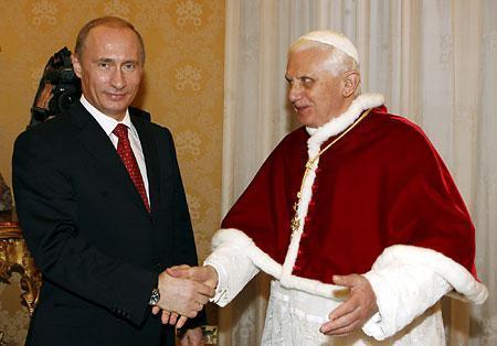 プーチンと法王サンタ