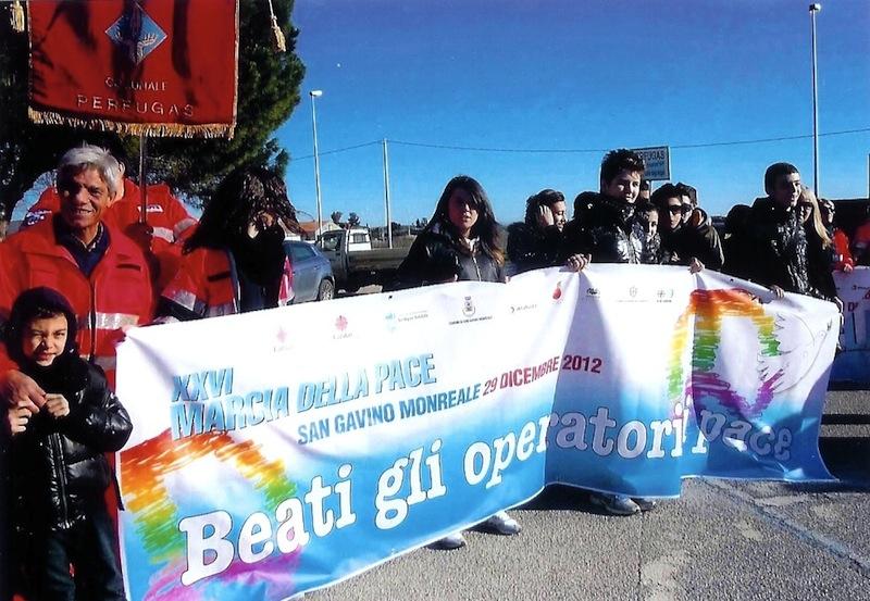 サルディーニャ島での平和行進