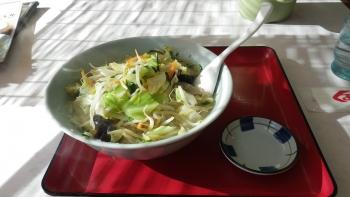 031野菜たっぷり塩ラーメン&半チャーハン&餃子3個とガッツリ