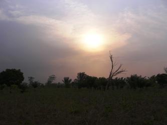 ゾボドメの夕日