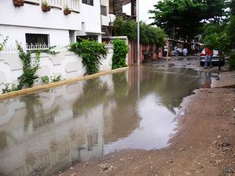 水たまり 道