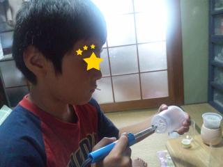 2010.08.07 長男半田ごて初体験