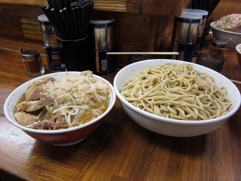 大 つけ麺 しょうが 麺増し  ¥950 + ¥50 + ¥100以上