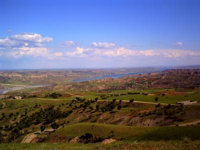 ネムルート山ちかくの景色