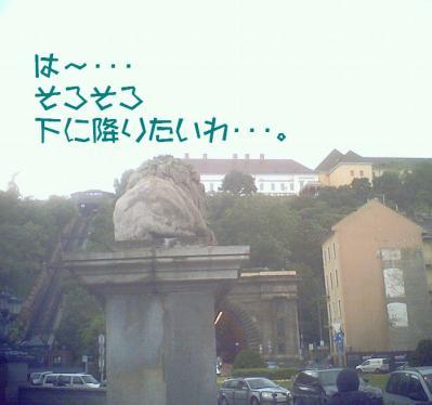ライオン像のおしり