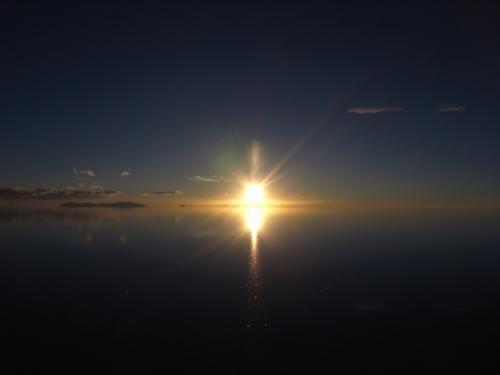 鏡のウユニ 6枚目 サンセット
