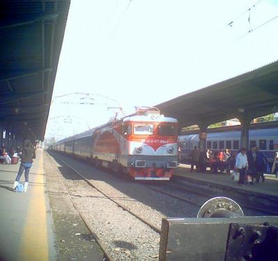 ブカレスト駅の列車