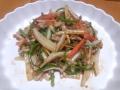 白菜の細切り炒め 青椒肉絲風 20131204
