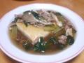 お豆腐の小松菜と舞茸のあんかけ 20131215