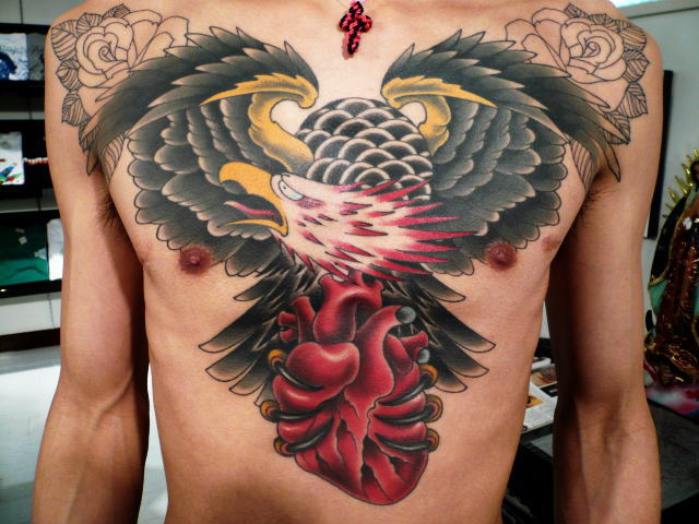 TATTOO KOBAYASHI EAGLE HEART DAYOFTHEDEAD