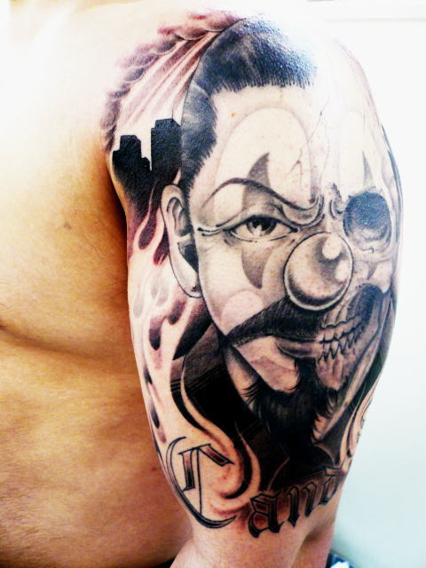 TATTOO KOBAYASHI CLOWN&SKULL