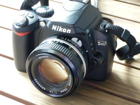 D40と50mmF1.4