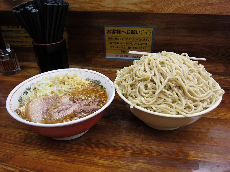 大つけ麺 しょうが アブラ少なめ 味薄め  ¥950 + ¥50