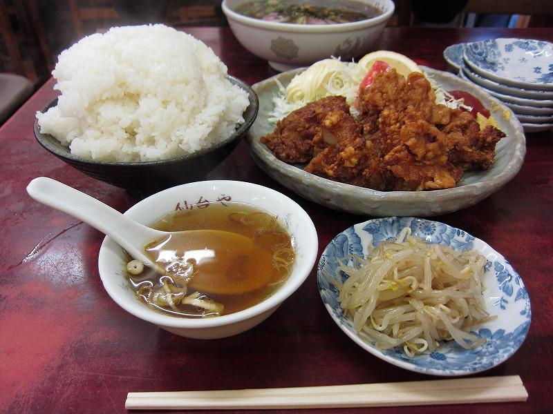 トリカラアゲ定食 大盛り  ¥900 + ¥150