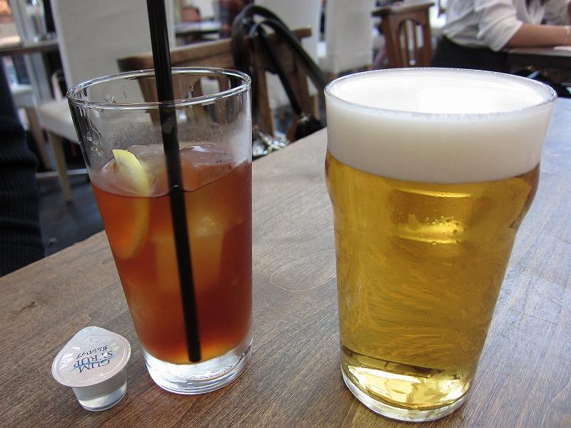 アイスティーとビール♪