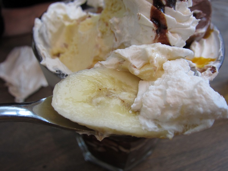 バナナと生クリームが美味しいね~♪