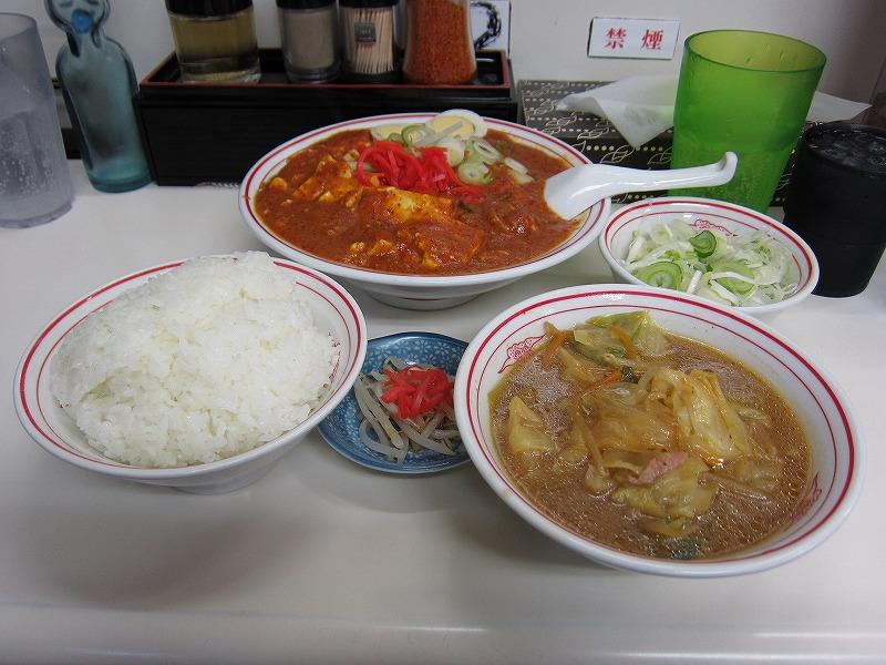 麻婆豆腐定食 ネギ  ¥1070 + ¥60
