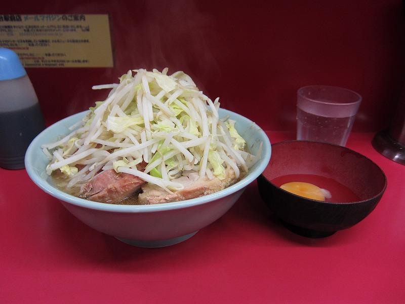 小豚 生玉子 麺カタメ ¥750 + ¥50