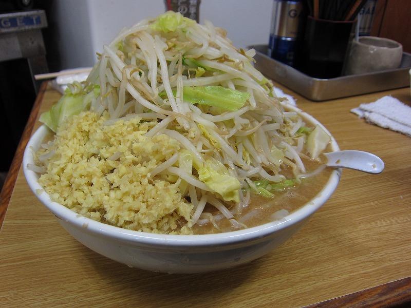 大ラーメン 麺カタメ しょうが ¥800