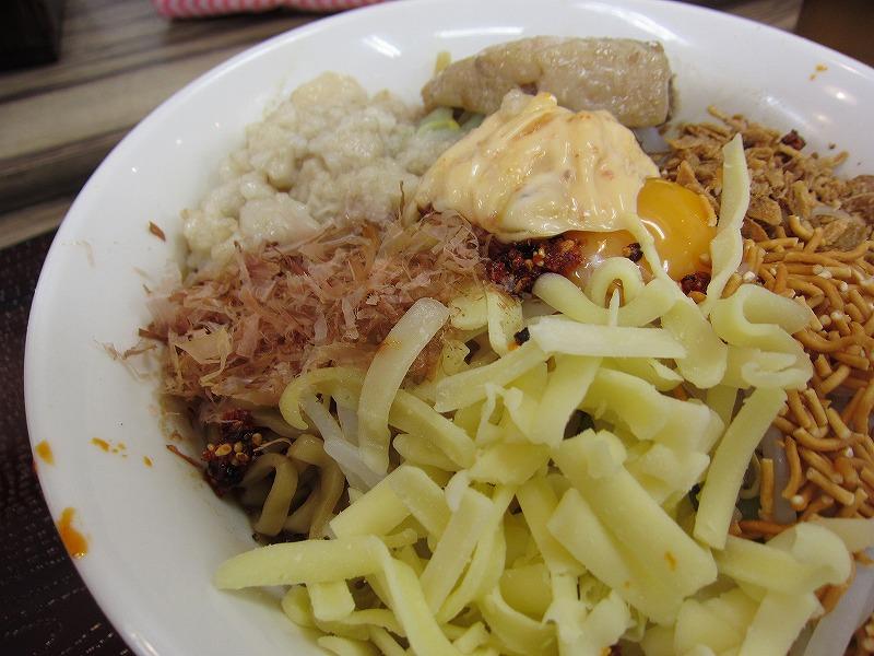チーズ 鰹節 アブラ 辛味w