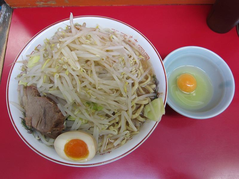 ラーメン大 麺増し500 麺カタメ なま玉子 ヤサイマシ