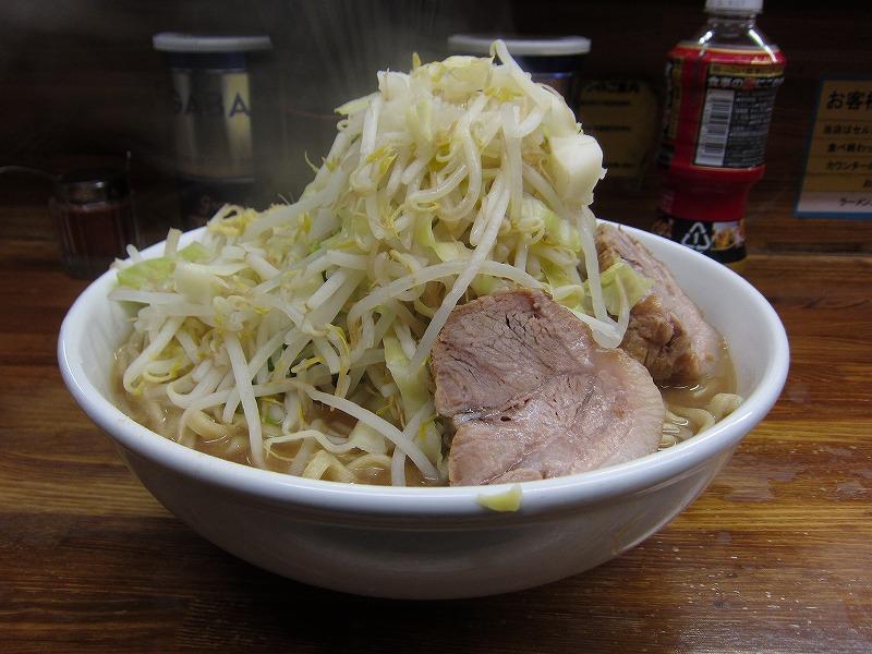 大ラーメン 麺増し 麺カタメ しょうが ¥800 + ¥100以上の募金 + ¥50