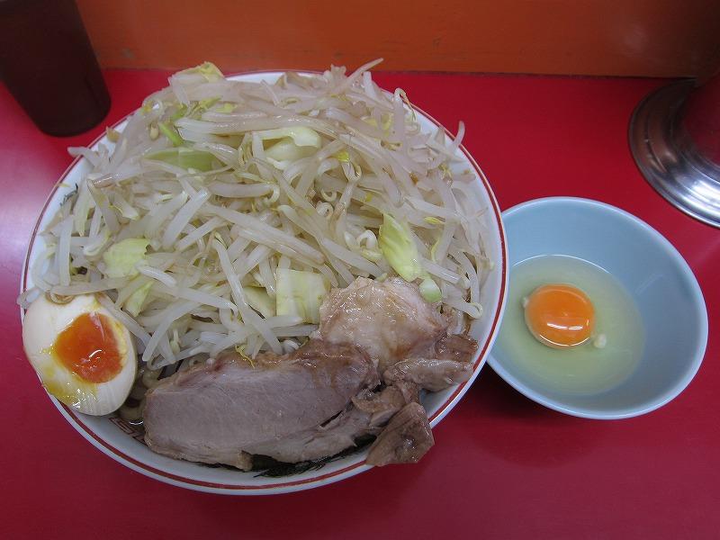 ラーメン大 麺増し600g 麺硬め なま玉子 ヤサイ