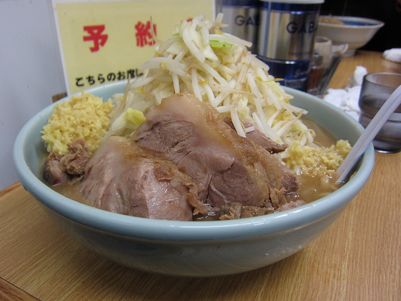 大ラーメン 麺マシ しょうが ¥800+¥100以上の募金+¥50