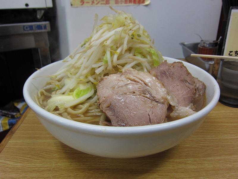 大ラーメン 麺増し 麺カタメ しょうが ¥800+¥100以上募金+¥50
