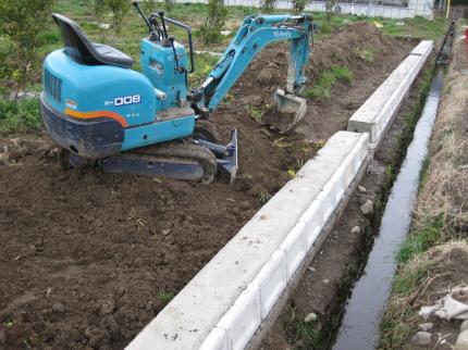 石垣の修理完了
