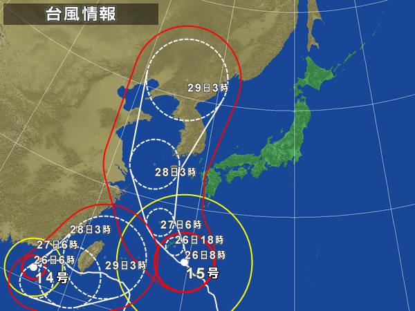 今回の台風15号(910hPaに発達する模様)は韓国史上最大の被害をもたらす可能性あり。韓国所有の軍艦並びに漁船等は北朝鮮に流される恐れが出てきた。
