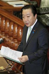 参院本会議で答弁する野田首相=11月2日