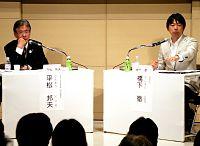 20111123-548094-1-Nラジオの生番組で公開討論した平松氏(左)と橋下氏