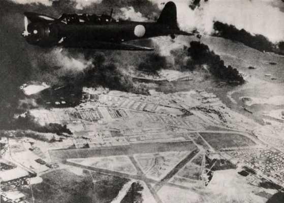 真珠湾を爆撃した日本海軍の中島九七式攻撃機