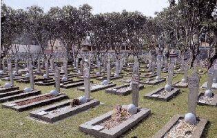 多くの日本兵も寝むっている英雄とカリバタ国立英雄墓地