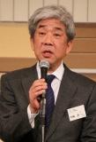 島田紳助の復帰希望を話す吉本興業の大崎洋社長=1月4日、大阪市内