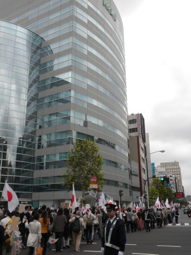 2011.10.21花王抗議デモ(茅場町の花王本社前)
