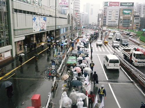 第3回花王抗議デモ(1月20日金曜日、雪、新宿)