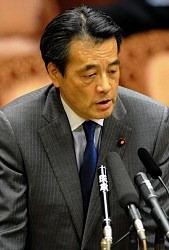 岡田克也副総理兼一体改革・行政改革担当相=国会内で2012年2月7日午後